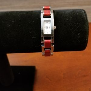 Emporia Armani watch with red band